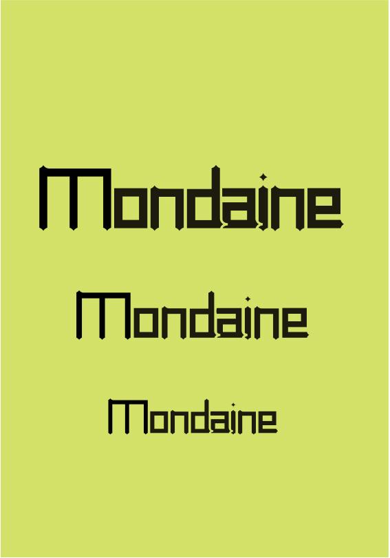 Typographie Mondaine